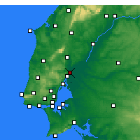 Nearby Forecast Locations - Castanheira do Ribatejo e Cachoeiras - Χάρτης