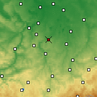 Nearby Forecast Locations - Zeitz - Χάρτης