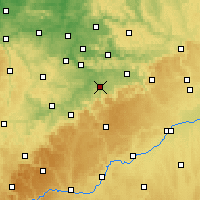 Nearby Forecast Locations - Kirchheim unter Teck - Χάρτης