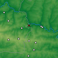 Nearby Forecast Locations - Donetsk - Χάρτης