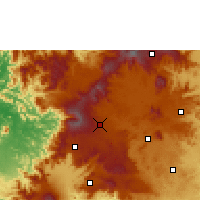 Nearby Forecast Locations - Mbouda - Χάρτης