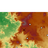 Nearby Forecast Locations - Dschang - Χάρτης