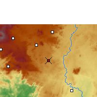 Nearby Forecast Locations - Bangangté - Χάρτης