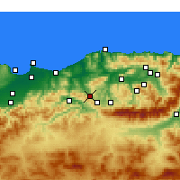 Nearby Forecast Locations - Tizi Ghenif - Χάρτης