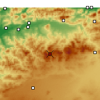 Nearby Forecast Locations - Théniet El Had - Χάρτης