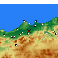 Nearby Forecast Locations - Sidi Moussa - Χάρτης