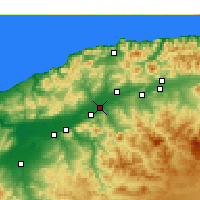 Nearby Forecast Locations - Oued Sly - Χάρτης