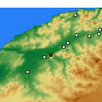 Nearby Forecast Locations - Oued Rhiou - Χάρτης