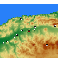 Nearby Forecast Locations - Oued Fodda - Χάρτης