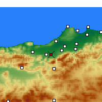 Nearby Forecast Locations - Mouzaïa - Χάρτης
