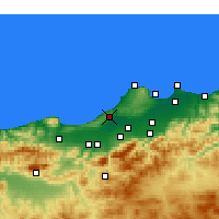 Nearby Forecast Locations - Koléa - Χάρτης