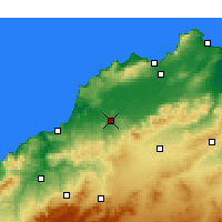 Nearby Forecast Locations - Hammam Bou Hadjar - Χάρτης