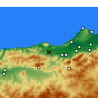 Nearby Forecast Locations - Hadjout - Χάρτης