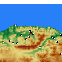 Nearby Forecast Locations - Freha - Χάρτης
