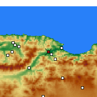 Nearby Forecast Locations - El-Kseur - Χάρτης