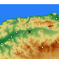Nearby Forecast Locations - El Attaf - Χάρτης