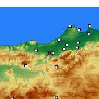 Nearby Forecast Locations - El Affroun - Χάρτης
