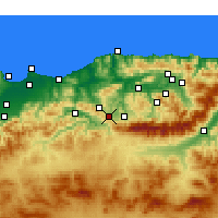 Nearby Forecast Locations - Draâ El Mizan - Χάρτης
