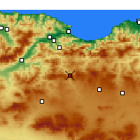 Nearby Forecast Locations - Bougaa - Χάρτης