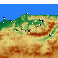 Nearby Forecast Locations - Boghni - Χάρτης
