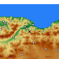 Nearby Forecast Locations - Barbacha - Χάρτης