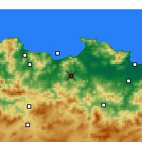 Nearby Forecast Locations - Azzaba - Χάρτης