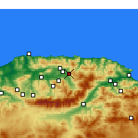 Nearby Forecast Locations - Azazga - Χάρτης