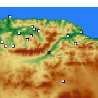 Nearby Forecast Locations - Akbou - Χάρτης
