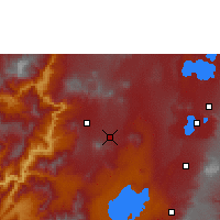 Nearby Forecast Locations - Boditi - Χάρτης