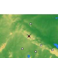Nearby Forecast Locations - Mampong - Χάρτης
