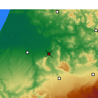 Nearby Forecast Locations - Sidi Kacem - Χάρτης