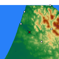Nearby Forecast Locations - Ksar el-Kebir - Χάρτης