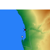 Nearby Forecast Locations - Swakopmund - Χάρτης