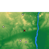 Nearby Forecast Locations - Auchi - Χάρτης