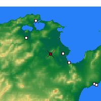 Nearby Forecast Locations - Oued Ellil - Χάρτης