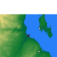 Nearby Forecast Locations - Bagamoyo - Χάρτης