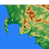 Nearby Forecast Locations - Grabouw - Χάρτης