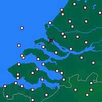 Nearby Forecast Locations - Hellevoetsluis - Χάρτης