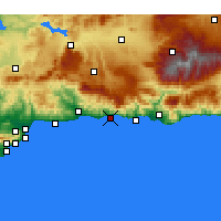 Nearby Forecast Locations - Nerja - Χάρτης