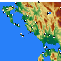Nearby Forecast Locations - Πάργα - Χάρτης