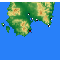 Nearby Forecast Locations - Pula - Χάρτης
