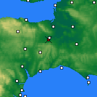 Nearby Forecast Locations - Taunton - Χάρτης