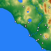 Nearby Forecast Locations - Cerveteri - Χάρτης