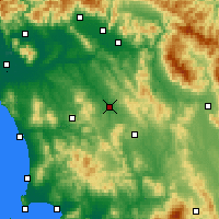Nearby Forecast Locations - Poggibonsi - Χάρτης
