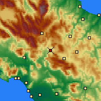 Nearby Forecast Locations - Isernia - Χάρτης