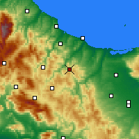 Nearby Forecast Locations - Casacalenda - Χάρτης