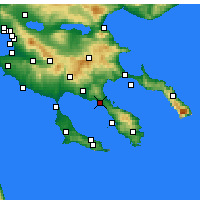 Nearby Forecast Locations - Νικήτη - Χάρτης