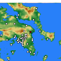 Nearby Forecast Locations - Μαραθώνας - Χάρτης