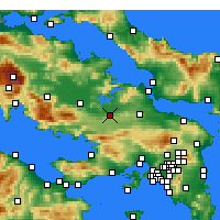 Nearby Forecast Locations - Θήβα - Χάρτης