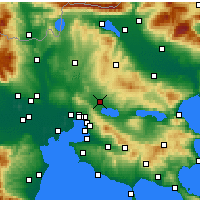 Nearby Forecast Locations - Λαγκαδάς - Χάρτης